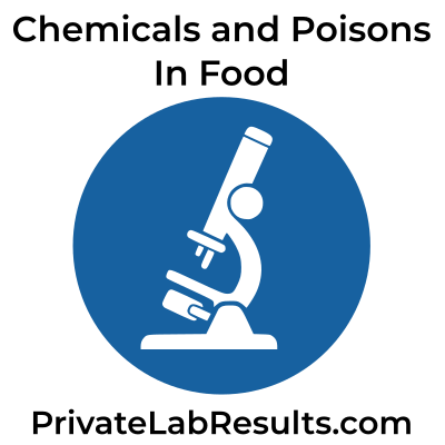 Test food for chemicals and poisons logo