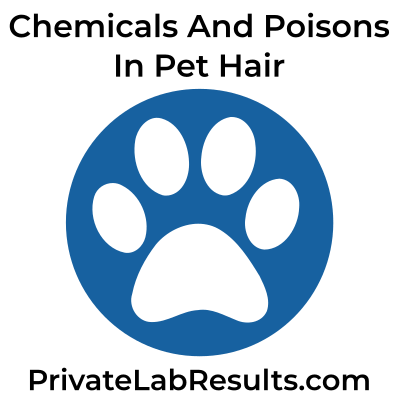 Test pet hair for chemicals and poisons logo