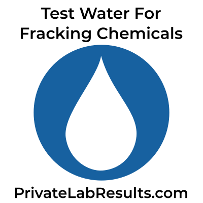 Test water for fracking chemicals test logo